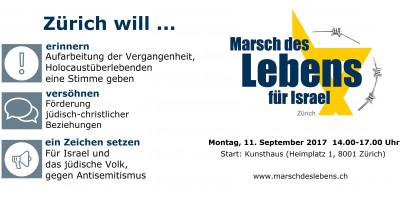Marsch des Lebens für Israel in Zürich